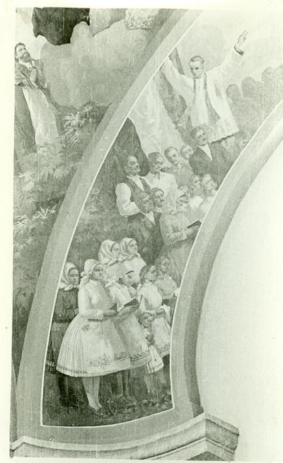 A csömöri templom freskójának fotódokumentációja (11.)
