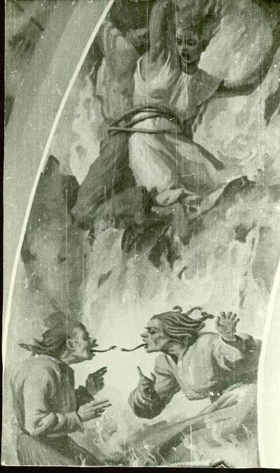A csömöri templom freskójának fotódokumentációja (12.)