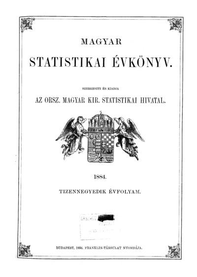 Magyar statistikai évkönyv. 14. évfolyam