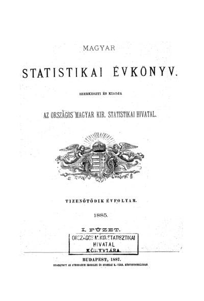 Magyar statistikai évkönyv. 15. évfolyam