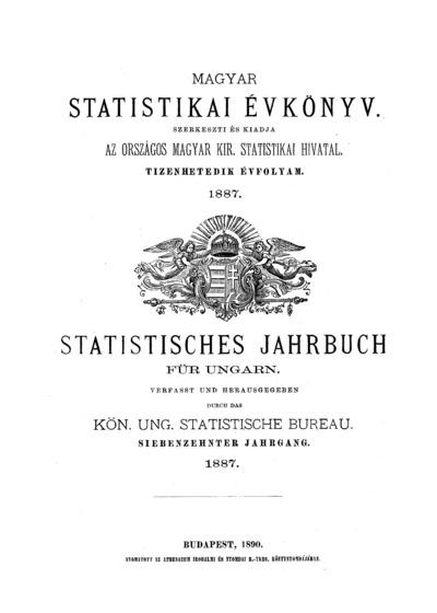 Magyar statistikai évkönyv. 17. évfolyam
