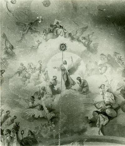 A csömöri templom freskójának fotódokumentációja (17.)