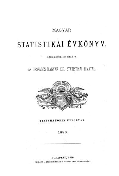 Magyar statistikai évkönyv. 16. évfolyam