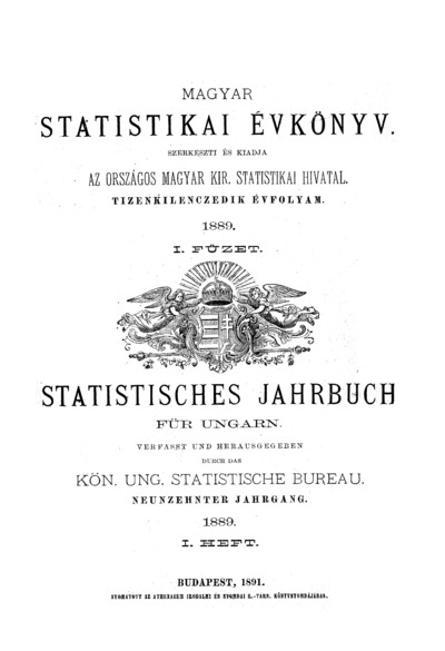 Magyar statistikai évkönyv. 19. évfolyam