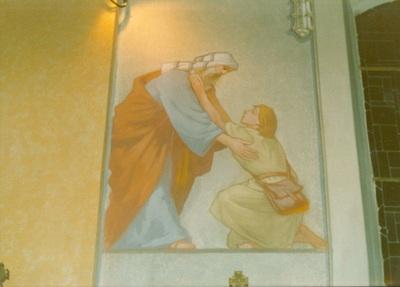 Az alsótelekesi templom freskójának fotódokumentációja (7.)