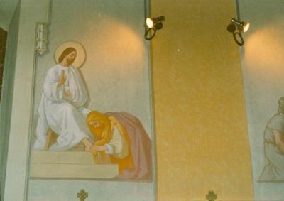 Az alsótelekesi templom freskójának fotódokumentációja (12.)