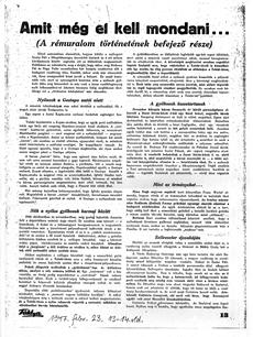 Amit még el kell mondani... - újságcikk 1947.02.23.