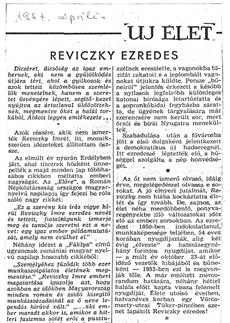 Reviczky ezredes - újságcikk 1957.