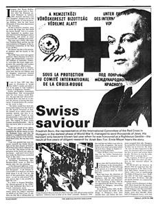 Swiss saviour - Svájci megmentő - angol nyelvű újságcikk