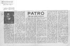 Patro - újságcikk