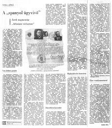 A spanyol ügyvivő - újságcikk