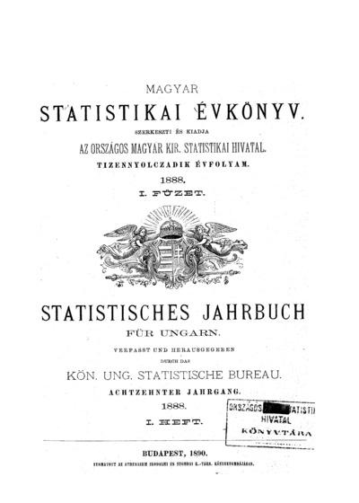 Magyar statistikai évkönyv. 18. évfolyam