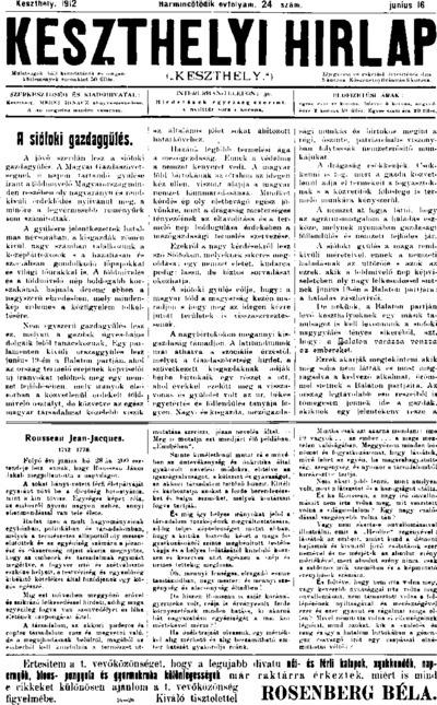 Keszthelyi Hírlap 1912.06.16.