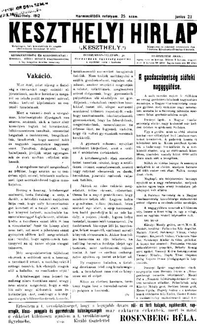 Keszthelyi Hírlap 1912.06.23.