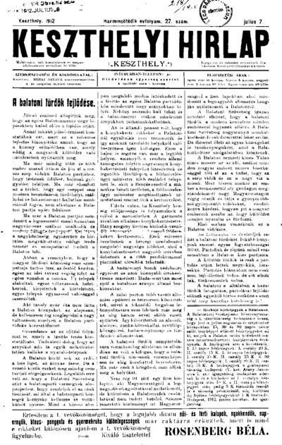Keszthelyi Hírlap 1912.07.07.