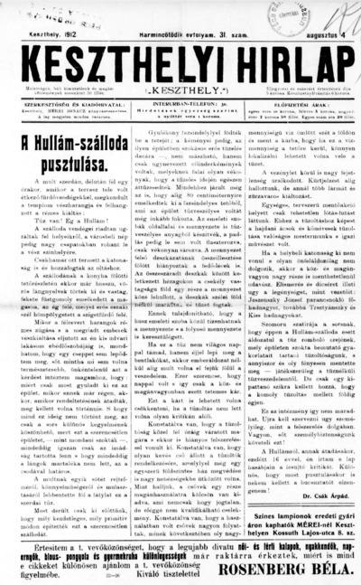 Keszthelyi Hírlap 1912.08.04.
