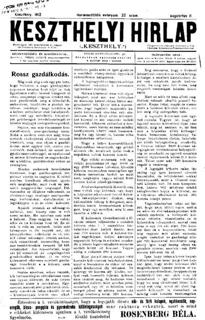 Keszthelyi Hírlap 1912.08.11.