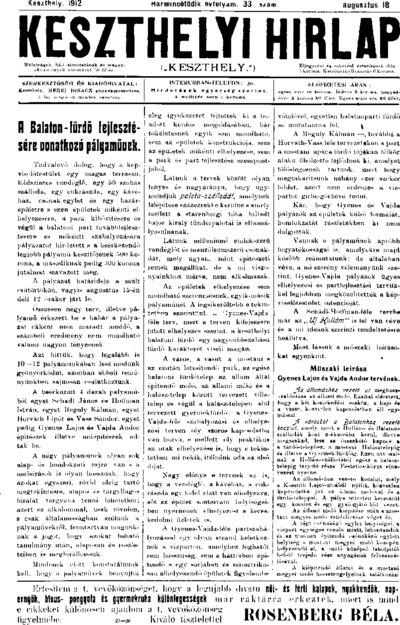 Keszthelyi Hírlap 1912.08.18.