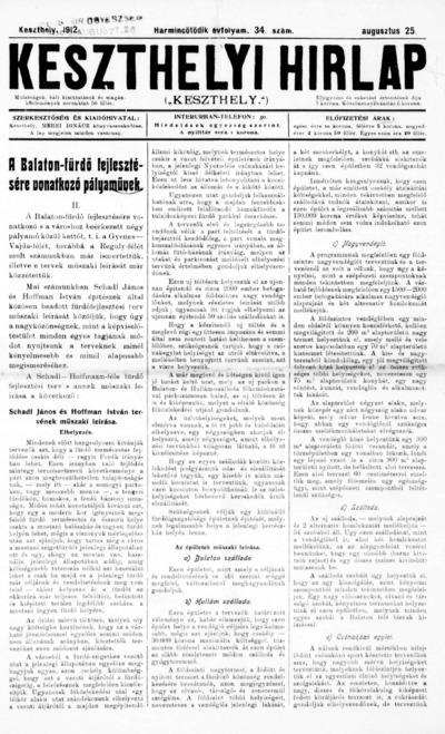 Keszthelyi Hírlap 1912.08.25.