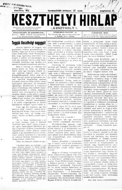 Keszthelyi Hírlap 1912.09.15.