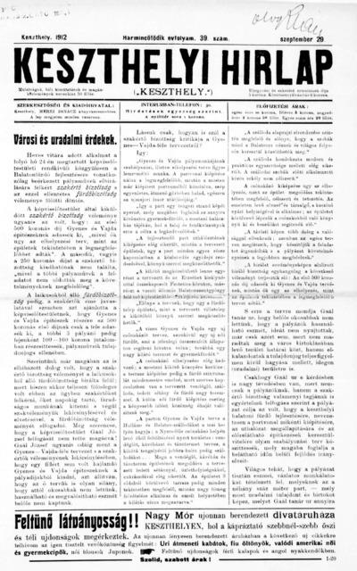 Keszthelyi Hírlap 1912.09.29.