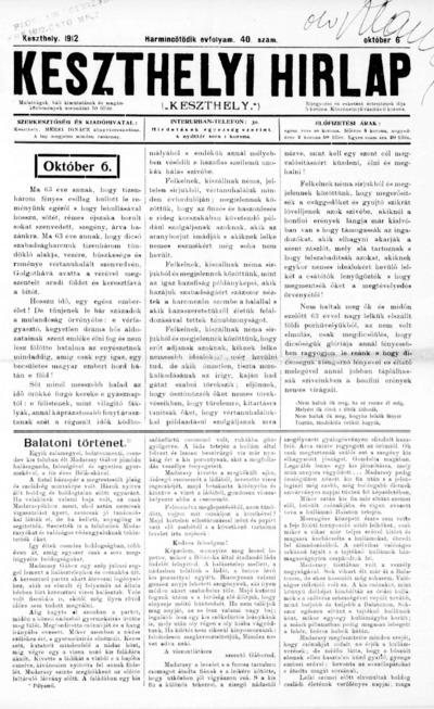 Keszthelyi Hírlap 1912.10.06.