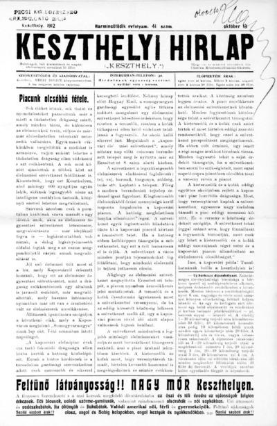 Keszthelyi Hírlap 1912.10.13.