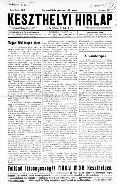 Keszthelyi Hírlap 1912.10.20.