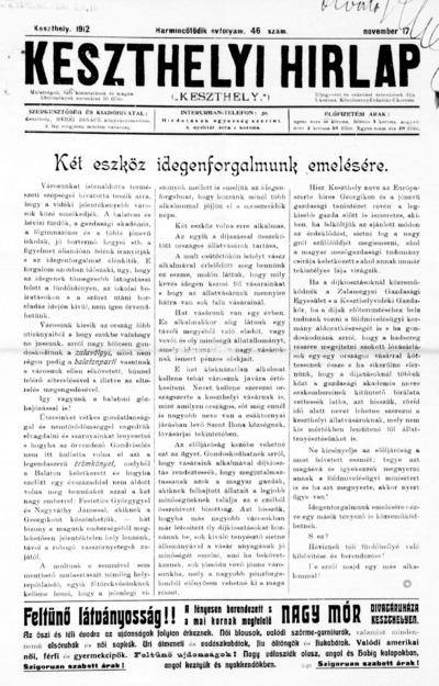 Keszthelyi Hírlap 1912.11.17.