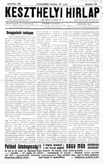Keszthelyi Hírlap 1912.11.24.