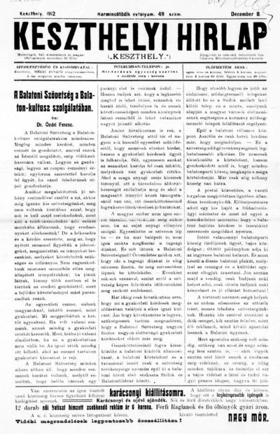 Keszthelyi Hírlap 1912.12.08.