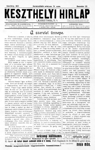 Keszthelyi Hírlap 1912.12.22.