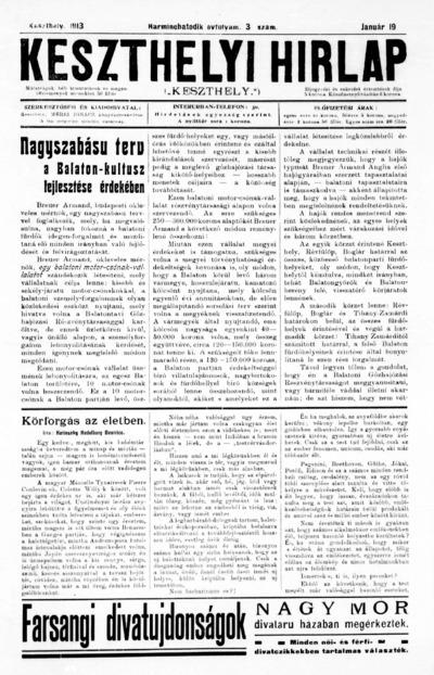 Keszthelyi Hírlap 1913.01.19.