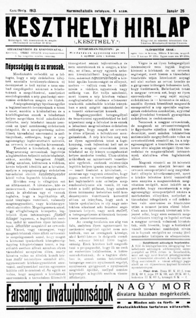 Keszthelyi Hírlap 1913.01.26.