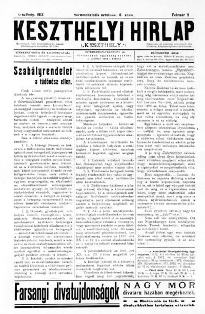 Keszthelyi Hírlap 1913.02.09.