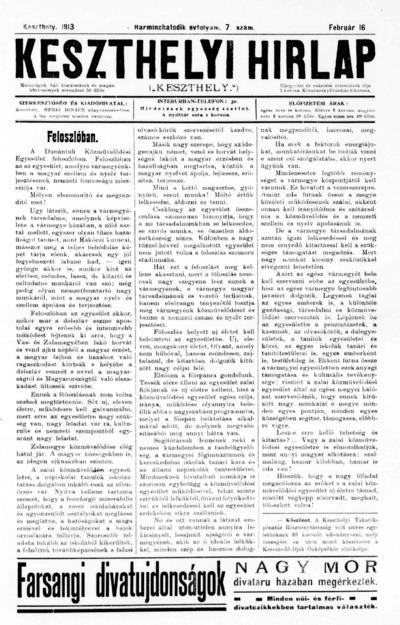 Keszthelyi Hírlap 1913.02.16.