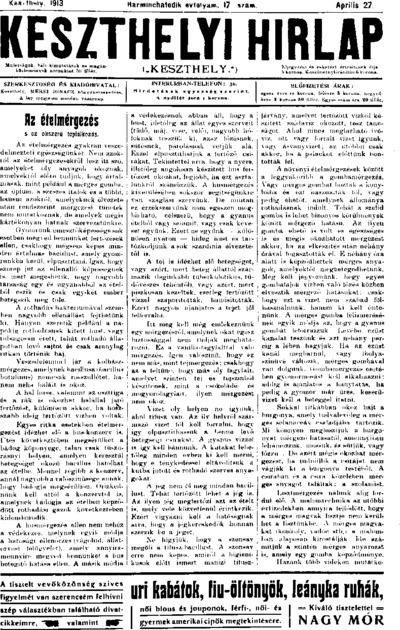 Keszthelyi Hírlap 1913.04.27.