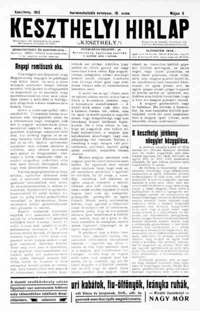 Keszthelyi Hírlap 1913.05.04.