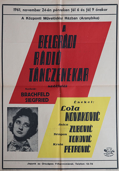 A Belgrádi rádió tánczenekar szólistái
