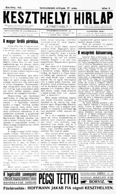 Keszthelyi Hírlap 1913.07.06.