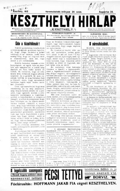 Keszthelyi Hírlap 1913.08.24.