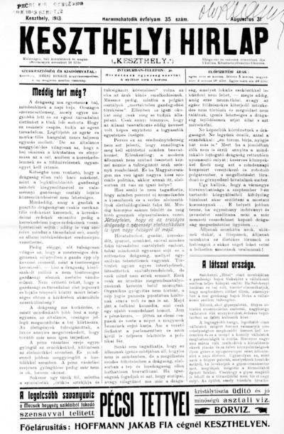 Keszthelyi Hírlap 1913.08.31.