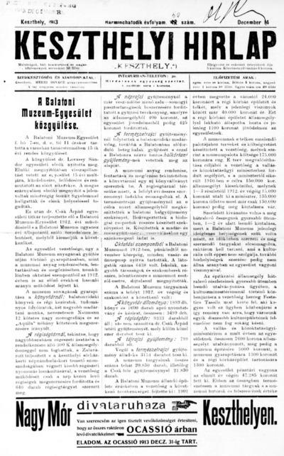Keszthelyi Hírlap 1913.12.14.