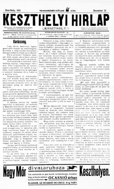 Keszthelyi Hírlap 1913.12.21.