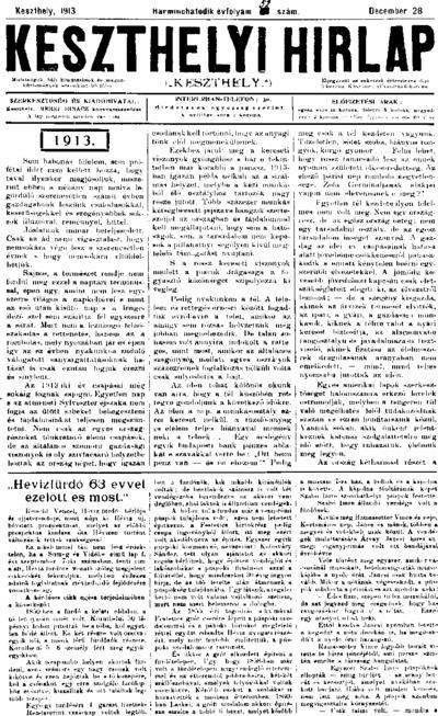 Keszthelyi Hírlap 1913.12.28.