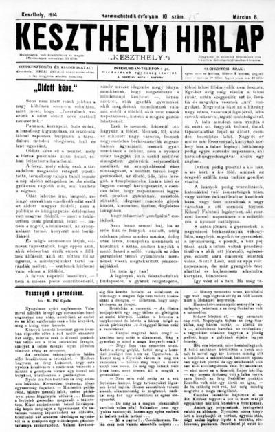 Keszthelyi Hírlap 1914.03.08.