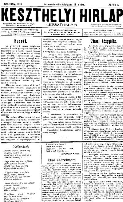 Keszthelyi Hírlap 1914.04.05.