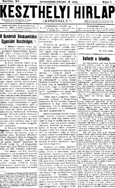 Keszthelyi Hírlap 1914.05.03.