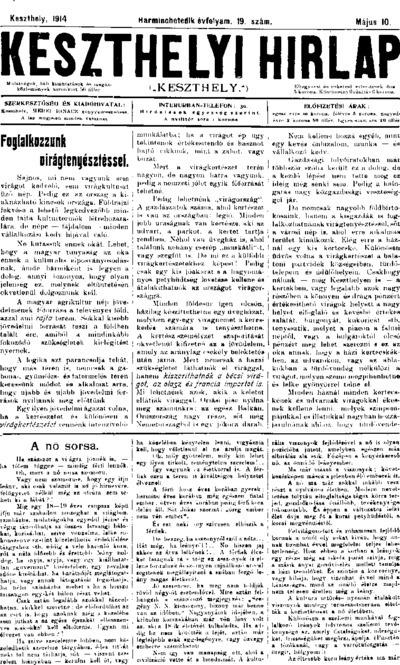 Keszthelyi Hírlap 1914.05.10.