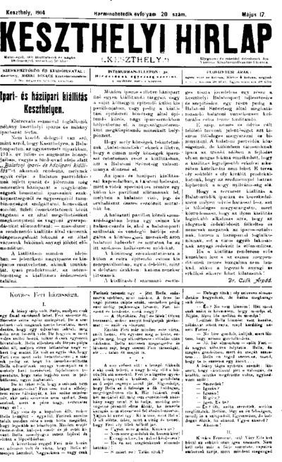 Keszthelyi Hírlap 1914.05.17.